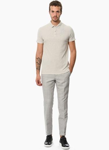 Que Slim Fit Polo Yaka Tişört Taş